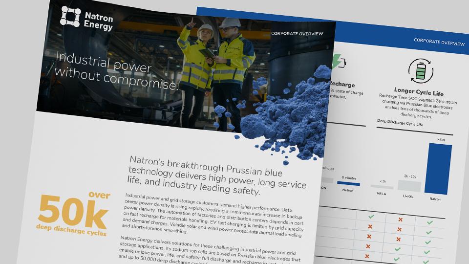 Natron Corporate Brochure